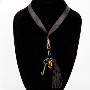 Jewelry - NWT ribbon and tassel necklace - long